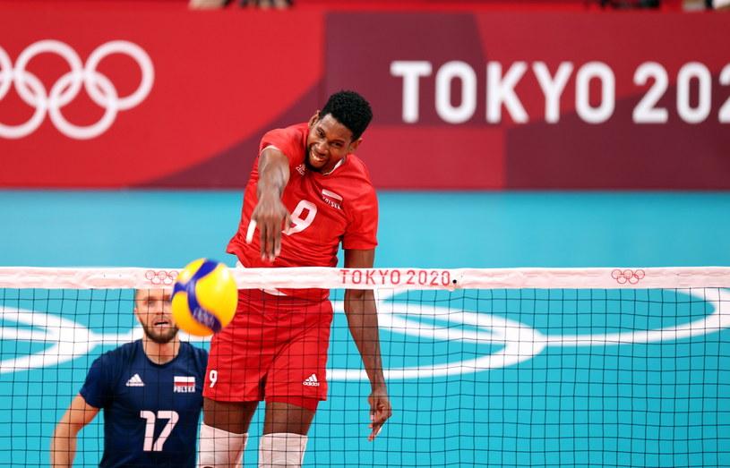 Wilfredo Leon w meczu z Japonią / Leszek Szymański    /PAP
