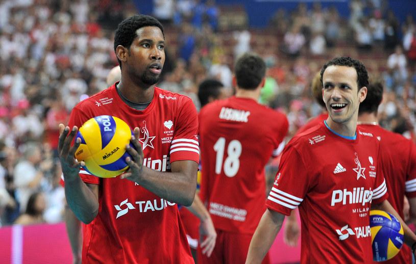 Wilfredo Leon (z lewej) /Fot. Łukasz Laskowski /Newspix