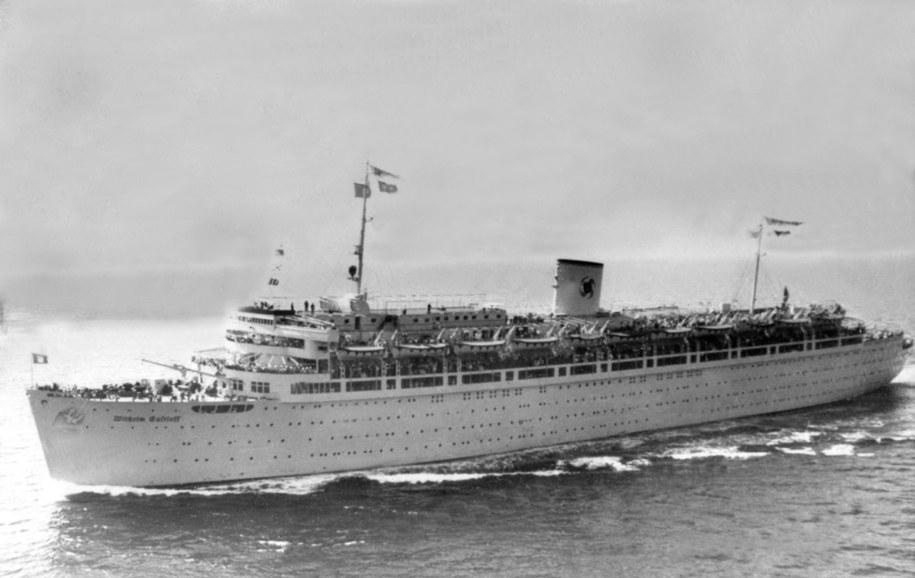 Wilhelm Gustloff na Bałtyku. Zdjęcie z 1945 roku /nbsp /PAP/EPA