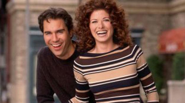 """""""Will & Grace"""": Gej Will (McCormack) i jego przyjaciółka Grace (Messing) byli idealnie niedobraną parą /materiały prasowe"""