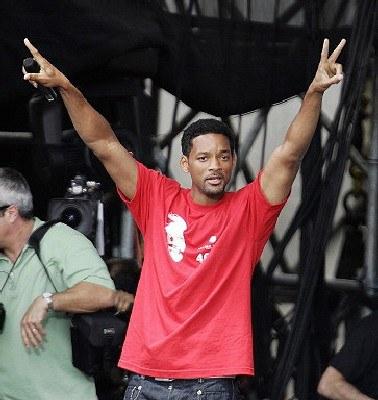 Will Smith w Filadelfii /AFP