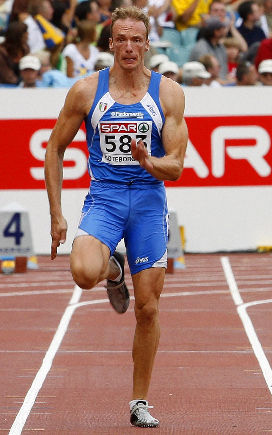 William Frullani trenował również dziesięciobój. Na zdjęciu: podczas zawodów w szwedzkim Goeteborgu w sierpniu 2006 roku /KERIM OKTEN /PAP/EPA