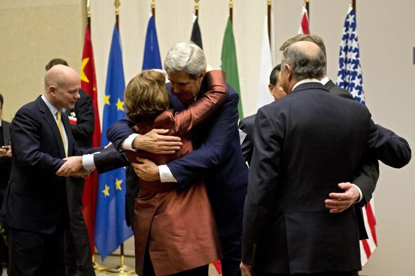 William Hague, Guido Westerwelle, Catherine Ashton, Mohammad-Javad Zarif, Wang Yi, John Kerry, Siergiej Ławrow, Laurent Fabius /PAP/EPA