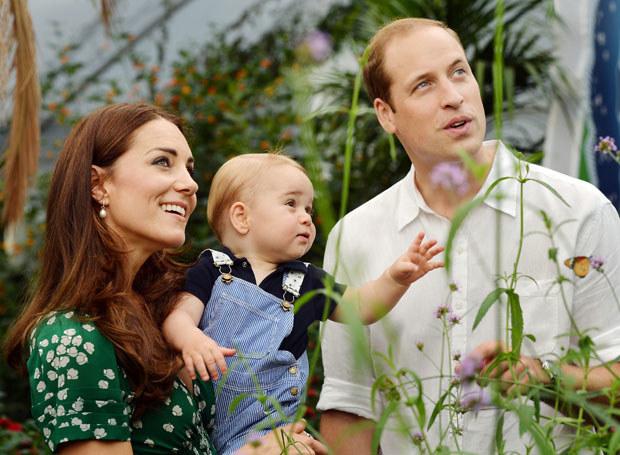 William i Kate z małym Georgem /Getty Images
