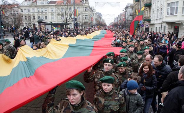 Wilno podczas obchodów litewskiego święta niepodległości /AFP