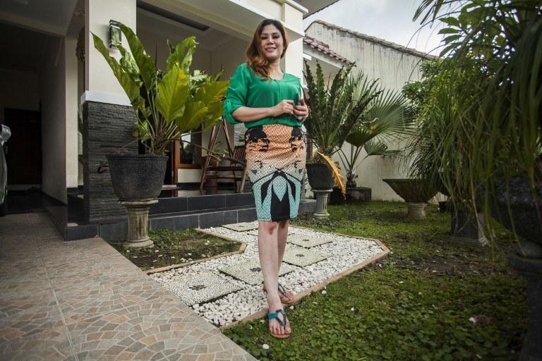 Wina Lia prezentuje nieruchomość /AFP