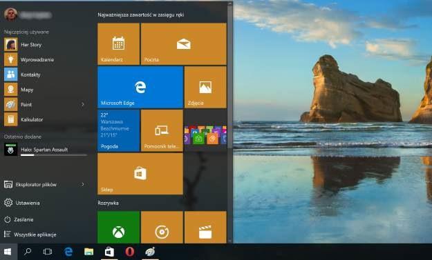 Windows 10 to m.in. wielki powrót Menu Start /materiały prasowe