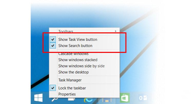 Windows 10 - z paska zadań można usunąć nieużywane ikony. /materiały prasowe