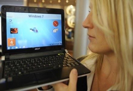 """Windows 7 jest na tyle """"lekkim"""" systemem, że można go zainstalować także na netbookach /AFP"""