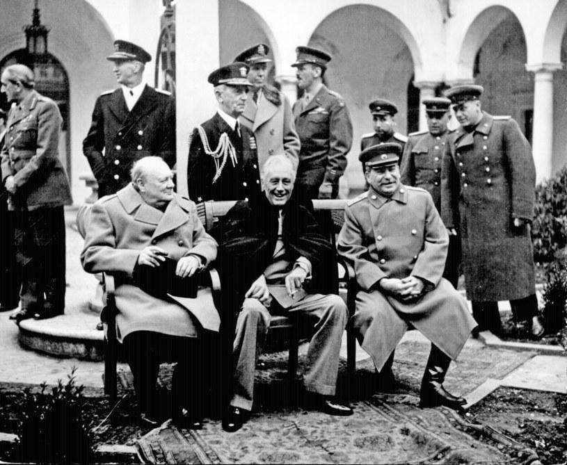 Winston Churchill, Franklin Roosevelt i Józef Stalin, 1945 r. /Polaris Images /East News