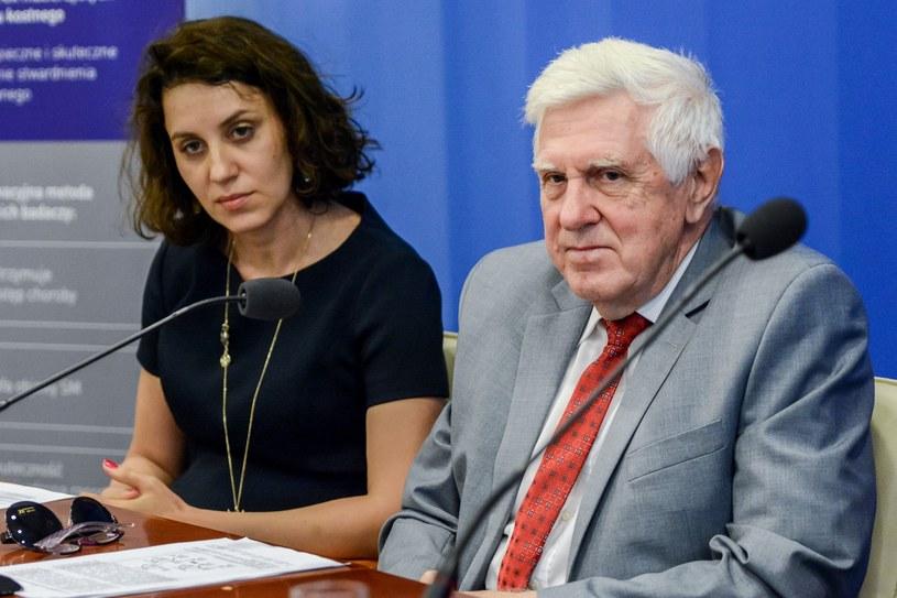 Wioletta Zdańska, prezes Zarządu Luna Laboratory i prof. Andrzej Klimek /Mariusz Gaczyński /East News