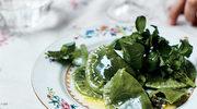 Wiosenne zielone pierogi ze szpinakiem, kaszą i serem