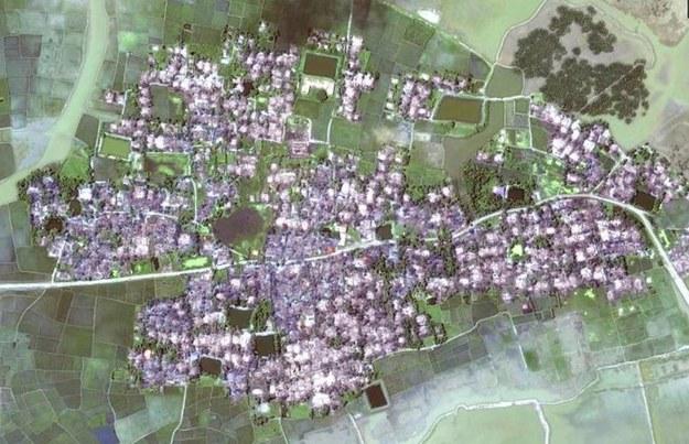 Wioska Yae Twin Kyun we wrześniu /Human Rights Watch /Materiały prasowe