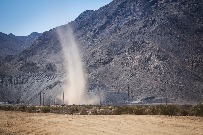 Wir pyłowy można spotkać w upalny dzień na pustyni /123RF/PICSEL