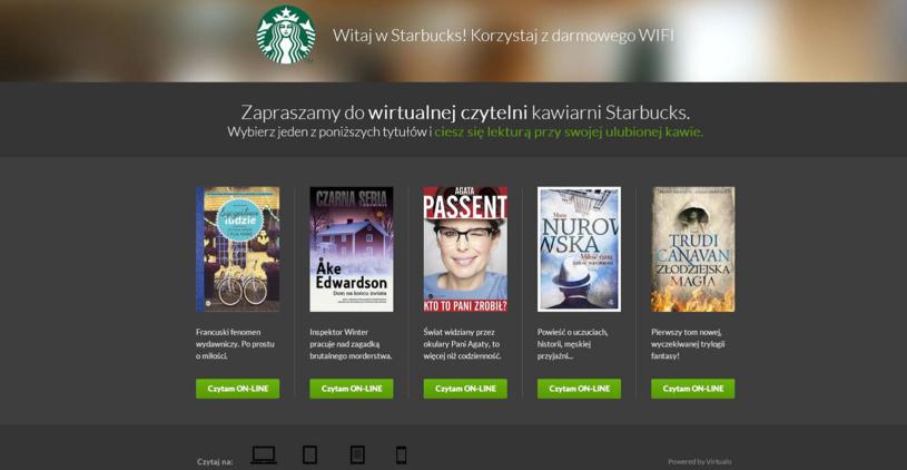 Wirtualna Czytelnia Starbucks to świetny pomysł na spędzenie czasu przy kawie /materiały prasowe