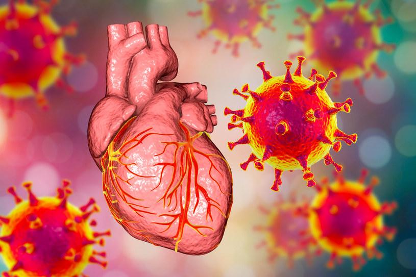Wirus u podłoża problemów z sercem? Tak, to możliwes /123RF/PICSEL