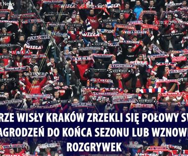 Wisła Kraków. Piłkarze zgodzili się na redukcję pensji. Wideo