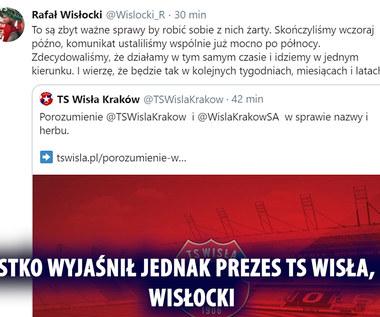 Wisła Kraków. Podpisano porozumienie między spółką a TS-em w sprawie nazwy i herbu. Wideo