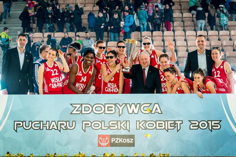 Wiślaczki zdobyły Puchar Polski /Fot. Tytus Żmijewski /PAP