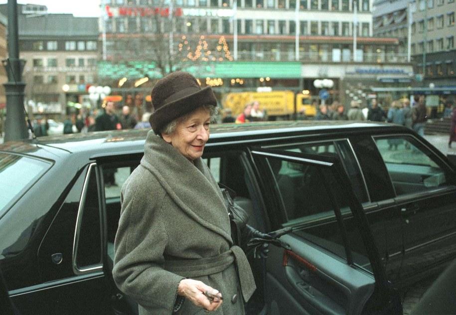 Wisława Szymborska w Sztokholmie /Jacek Bednarczyk   /PAP