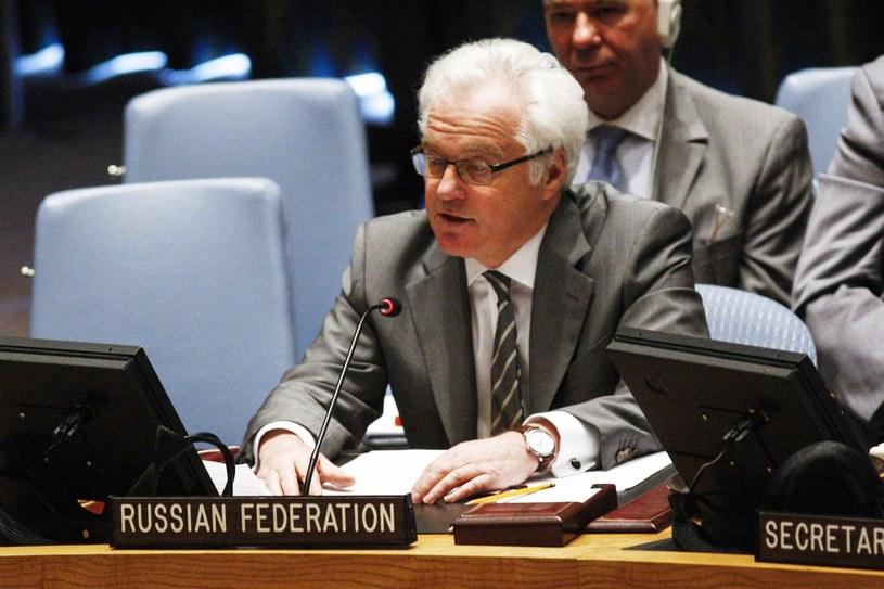Witalij Czurkin, rosyjski ambasador przy ONZ. /AFP