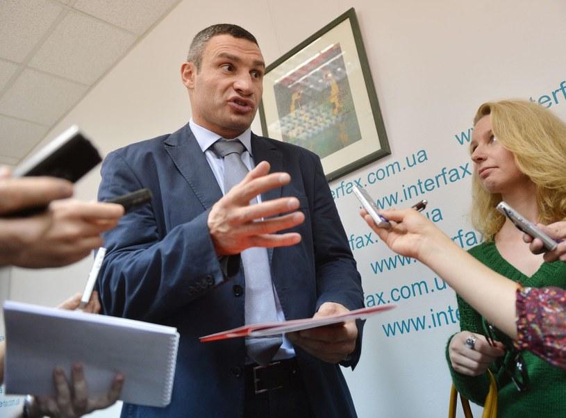 Witalij Kliczko koncentruje się obecnie na kampanii wyborczej na Ukrainie /AFP