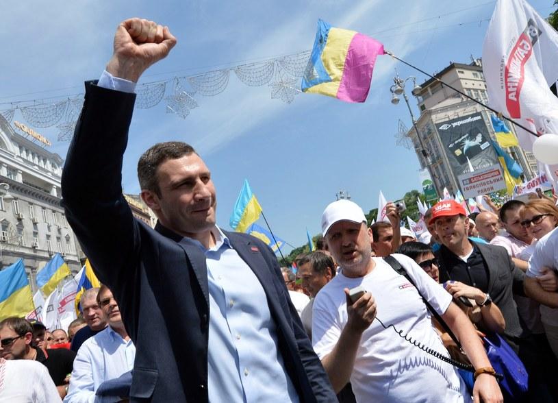 Witalij Kliczko poświęcił się karierze politycznej /AFP