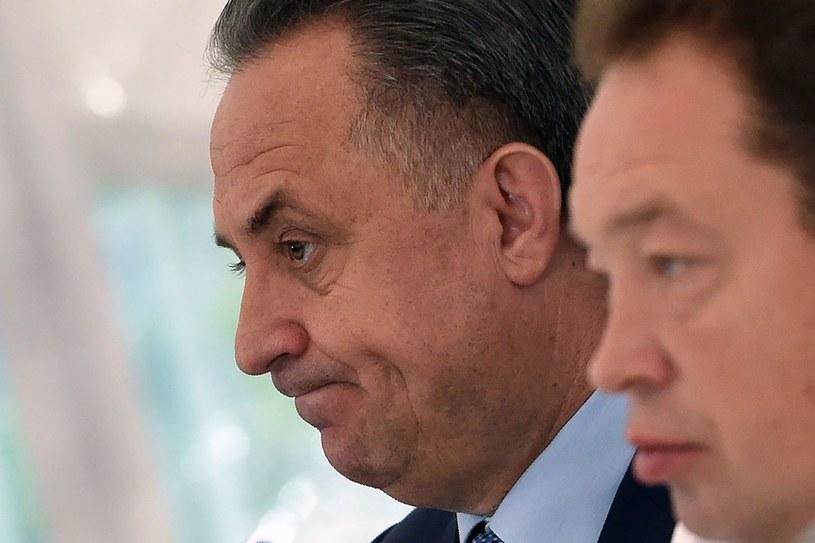 Witalij Mutko podczas konferencji prasowej z udziałem Leonida Słuckiego /AFP