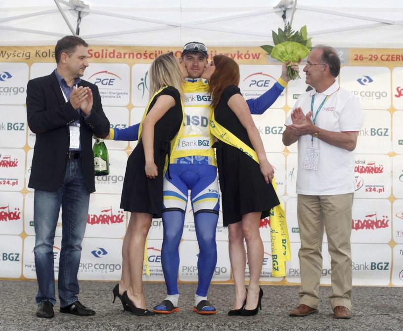 Witalij Popkow zachował żółtą koszulkę lidera /Fot. Marek Zimny /PAP