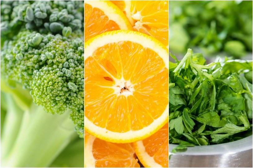 Witamina C jest najlepiej przyswajana z żywności, dlatego warto wprowadzić do swojego menu cytrusy, pietruszkę, aronię lub brokuły /123RF/PICSEL