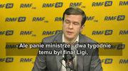 Witold Bańka o szeryfach w krótkich spodenkach