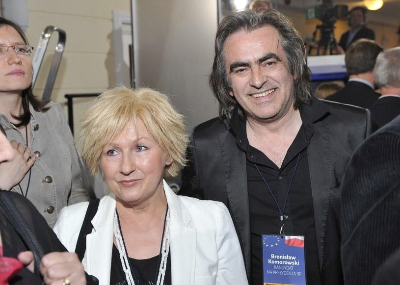 Witold Paszt wraz z żoną /VIPHOTO /East News