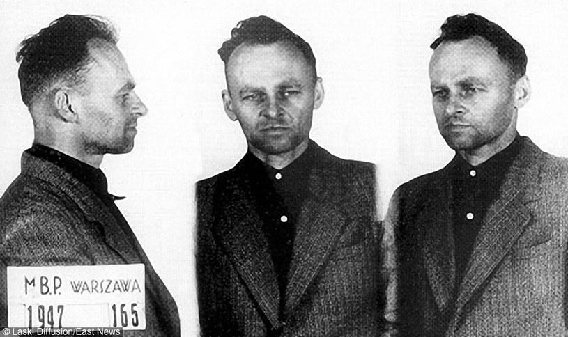 Witold Pilecki, zdjęcie z kartoteki Ministerstwa Bezpieczeństwa Publicznego (MBP), 1947 r. /Laski Diffusion /East News
