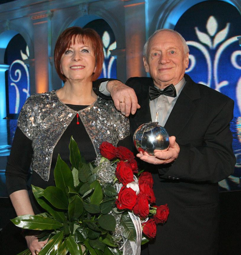 Witold Pyrkosz wraz z żoną, Krystyną /AKPA