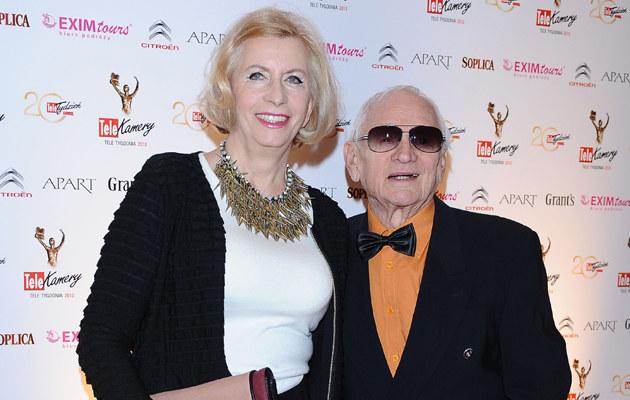 Witold Pyrkosz z żoną /Andras Szilagyi /MWMedia