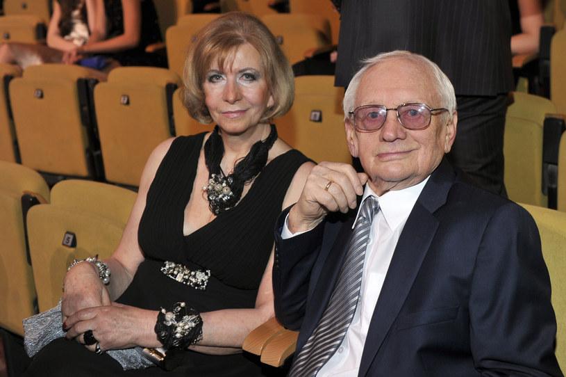 Witold Pyrkosz zmarł 22 kwietnia 2017 roku, zostawiając pogrążoną w żałobie żonę /Kurnikowski /AKPA