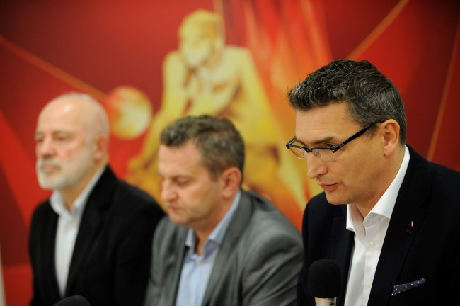 Witold Roman (pierwszy z prawej) /Bartłomiej Zborowski /PAP
