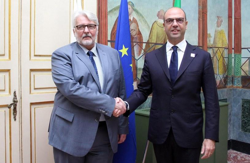 Witold Waszczykowski i Angelino Alfano /MICHELE NACCARI /PAP/EPA