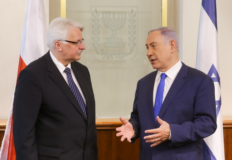 Witold Waszczykowski i Benjamin Netanjahu /Paweł Supernak /PAP