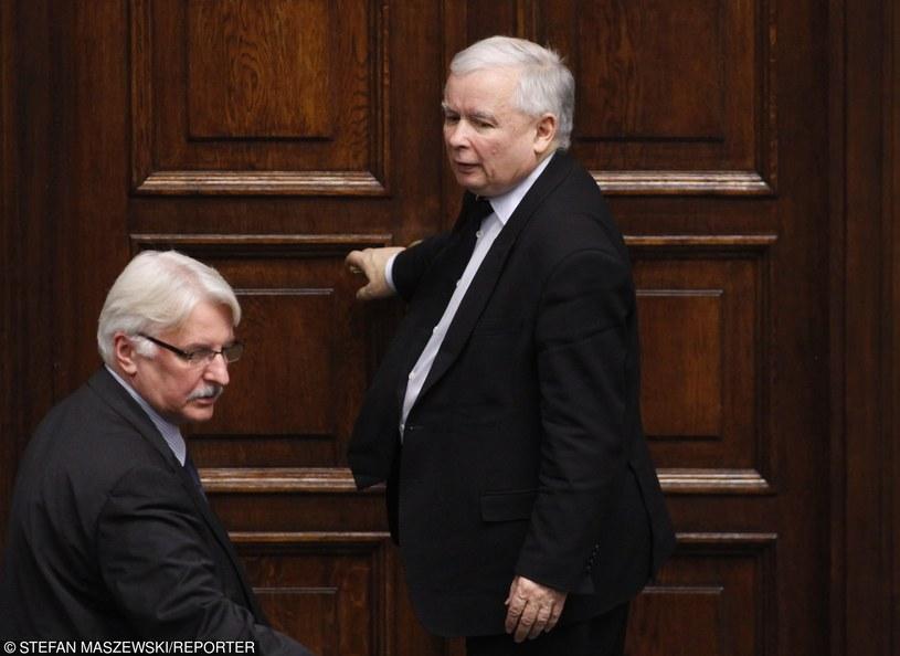 Witold Waszczykowski i Jarosław Kaczyński /STEFAN MASZEWSKI/REPORTER /East News