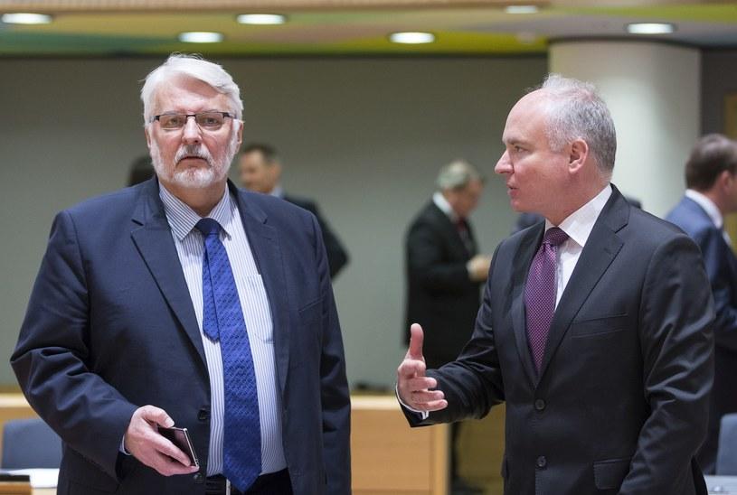 Witold Waszczykowski i Jarosław Starzyk /Thierry Monasse /Reporter