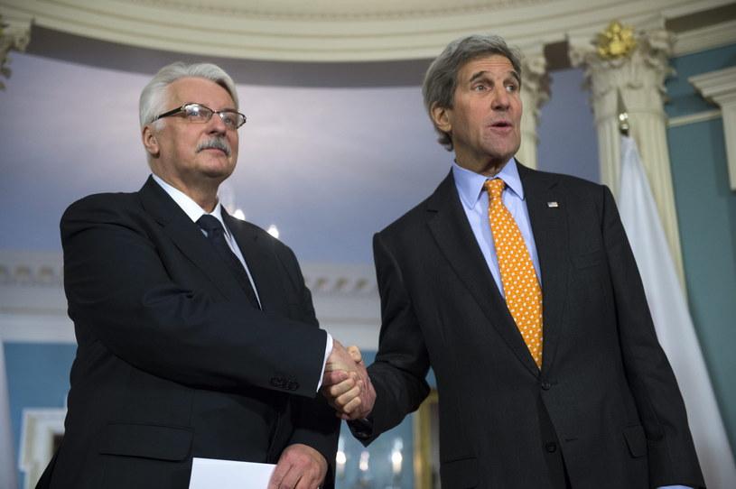 Witold Waszczykowski i John Kerry /AFP