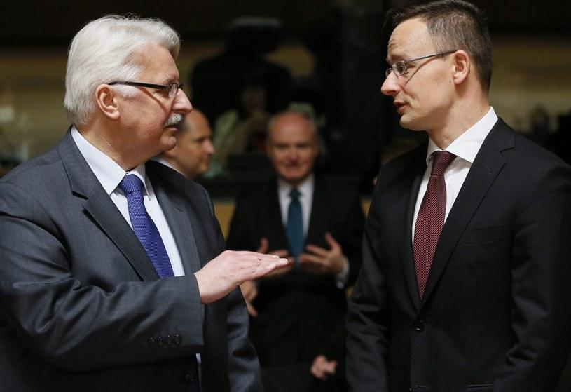 Witold Waszczykowski i minister spraw zagranicznych Węgier Peter Szijjarto (P) /PAP/EPA
