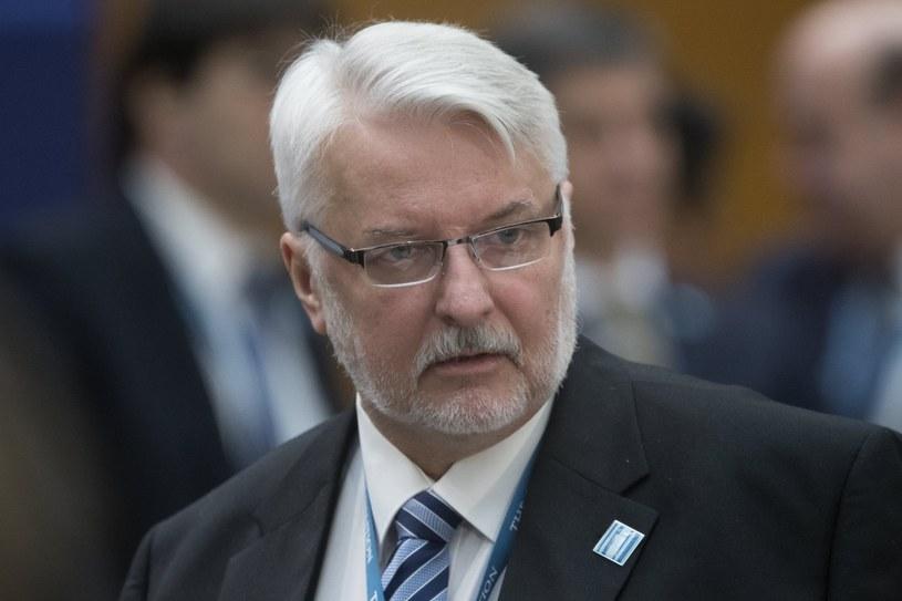 Witold Waszczykowski, minister spraw zagranicznych /PAP/EPA