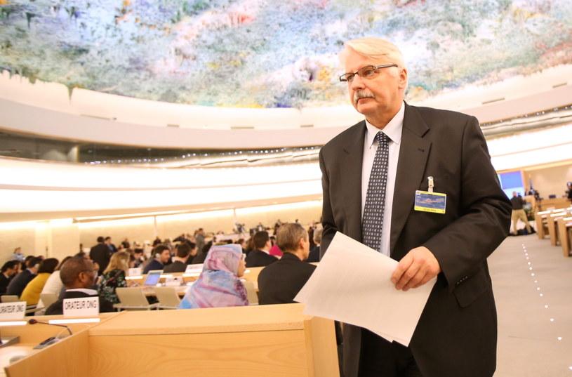 Witold Waszczykowski podczas sesji w Genewie /Leszek Szymański /PAP
