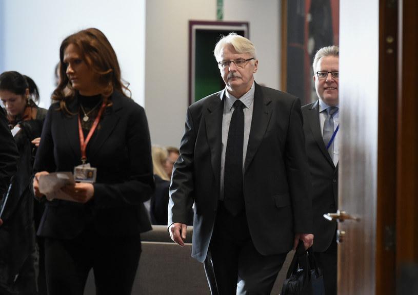 Witold Waszczykowski w Brukseli /AFP