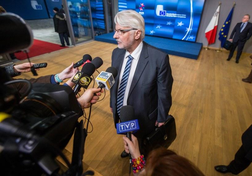 Witold Waszczykowski w Brukseli /PAP/EPA