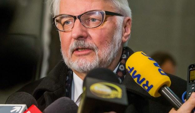Witold Waszczykowski /STEPHANIE LECOCQ  /PAP/EPA