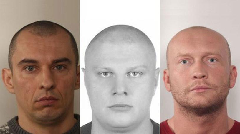 Wizerunki trzech poszukiwanych mężczyzn /Policja