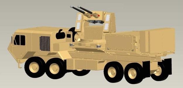Wizja artyleryjskiego system zwalczania pocisków artyleryjskich i moździerzowych, rakiet i dronów. Ilustracja ARDEC /materiały prasowe